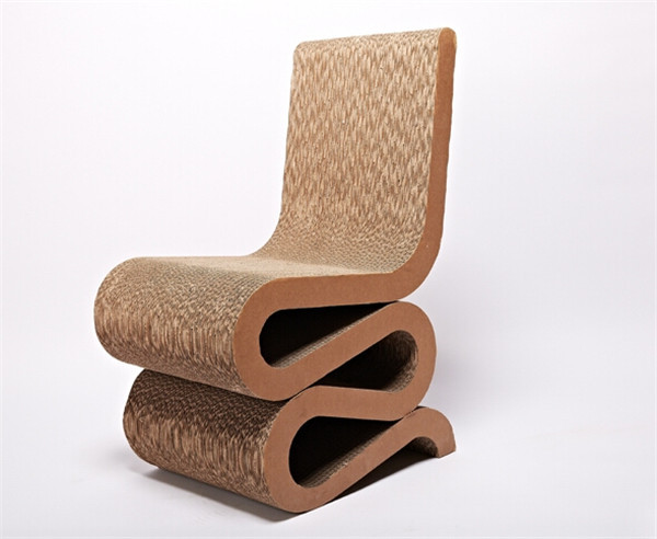 Corrugated Cardboard Chair S Shape Reline Chair   Buy Corrugated ...