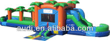 Tropical Inflatable,Hot sale inflatable bouncer slide combo