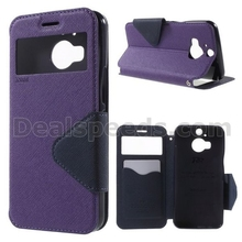 ROAR KOREA Diary View Window PU Leather Phone Cover for HTC One M9 Plus - Purple