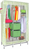 modern door curtain non-woven fabric wardrobe with drawer designs