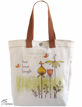 Multi Pocket Live Love Laugh Canvas Bag Heavy Duty Canvas Tote Bag
