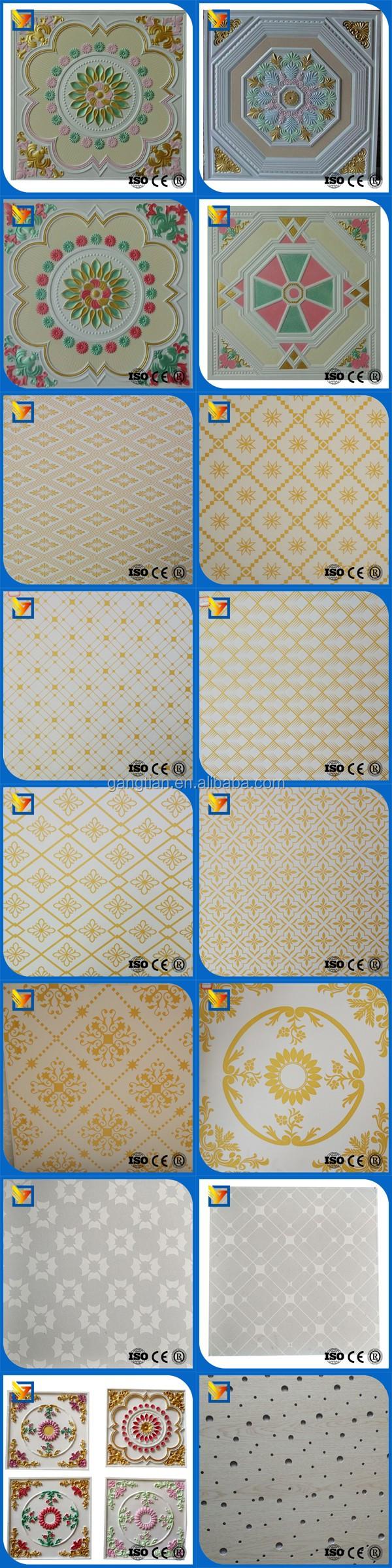 Colored Plasterboard Ceiling Gypsum Board Grg Ceiling Tile
