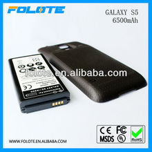 Phone Accessory New arrival 6800mAh Large Capacity Repalcement Extended Battery + Cover Case For Samsung Galaxy S5 I9600