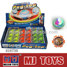 wonderful plastic wind up spinning top with music and light