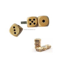 USB3.0 8G Wood dice shape USB flash drive in Tin box with free logo