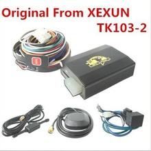 High quality! Vehicle/Car GPS tracker XEXUN TK103-2 Quad band dual sim card slot,Cut Engine&oil Voice Surveillance,Motion Sensor