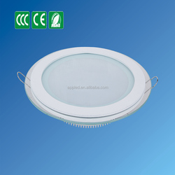 china supplier led light glass and 6w glass panel light wiht changing color