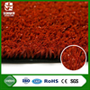 wuxi jiazhou hot selling durable natural appearance cheap free maintenance red artificial grass for tennis court