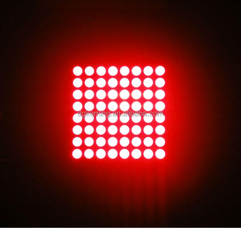 20x20mm matrix 1.9mm dots 8x8 array red color led dot matrix led display