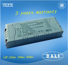 12w dimming dali led driver high output constant current to 350&500&700ma led driver