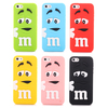 Free shipping 3D Cute Lovely Cartoon m&m Chocolate Beans Silicone Case Cover for iphone 5 5s iphone5 100pcs/lot
