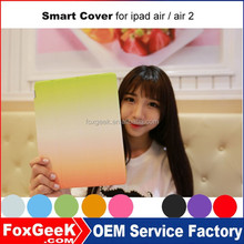 Hot selling high quality TPU leather case for ipad air 2 with Smart Cover magnetic Auto WakeUp/Sleep Function cheap price