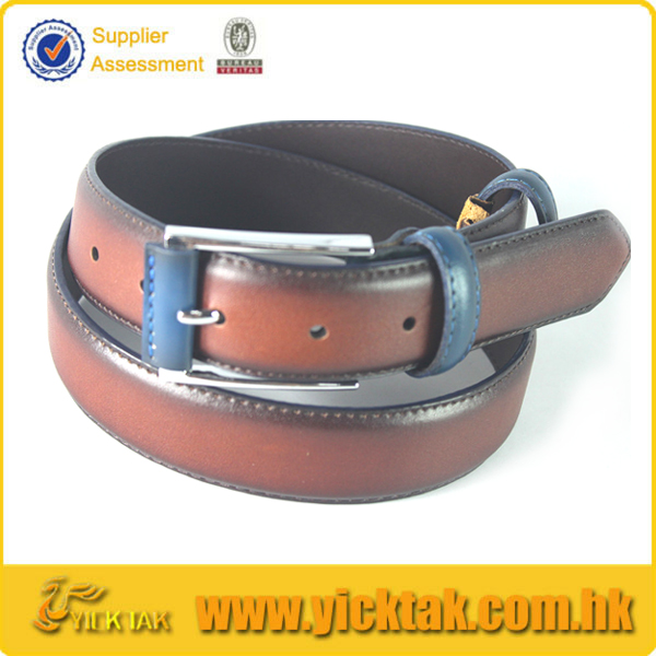 2015 Color Matched Oily Genuine Leather Belt
