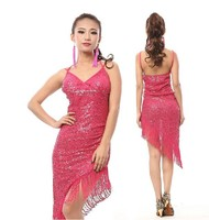 Sexy shiny glittery Lyrical latin dance dresss clothes for girls L-7070#