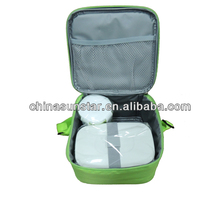 Cheap fashion cooler lunch bag with lunch box and bottle