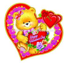 Caliente!!! 2014 nueva 3d de papel feliz día de san valentín decoración