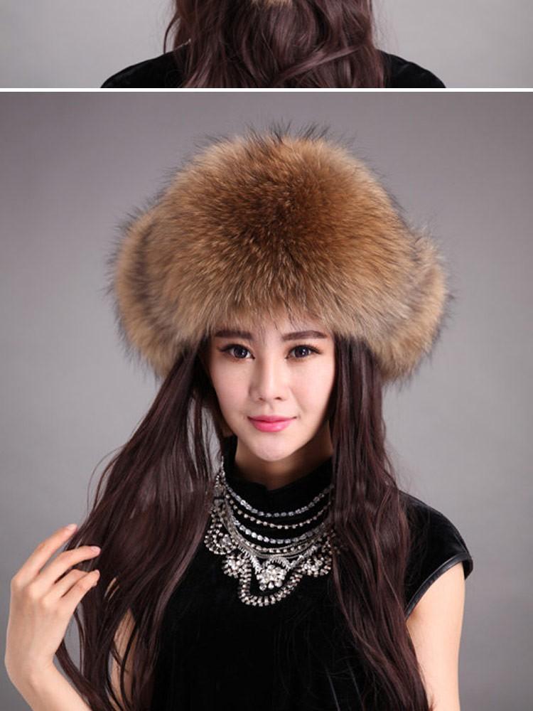 Женская шапка-ушанка ZDFURS  8895