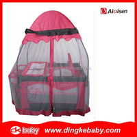 china factory portable baby travel playpen,baby bed crib plastic DKP2015126
