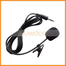 Mobile phone or interphone 3.5mm Collar Neck Clip Microphone