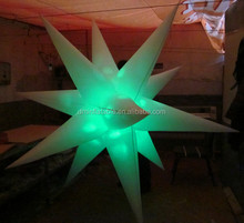 Party/event/club decorative multi-color inflatable led star/led star light effects