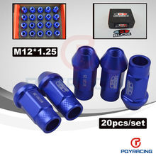 M12*1.25, L:50mm BLOX LIGHT WEIGHT WHEEL NUTS RACING LUG NUTS (20pcs/set) Blue