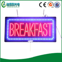Wholesale Customized Indoor Restaurant Advertising breakfast shop led sign