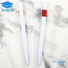 Pretty White Plastic pen Promotional ballpoint pen with Logo