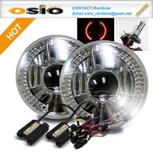 7 inch Round BMC Semi Sealed Beam WITH Projector Lens AND LED HALO RING