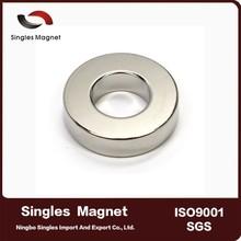 "Customized cheap price N42 Ring Magnet OD 1"" x ID 1/2"" x 1/4"" Neodymium Magnet"