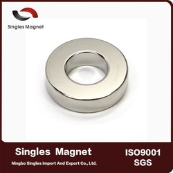 "Customized cheap price N42 Ring Magnet OD 1"" x ID 1/2"" x 1/4"" Neodymium Magnet"