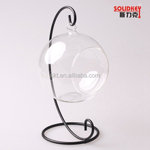 Handblown clear glass vase and glass terrarium