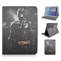 Black Batman Folio Stand PU Leather Tablet Cover Case For Samsung galaxy Tab 4 10.1inch T530