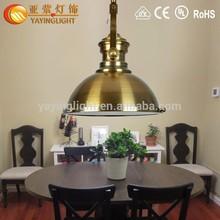 Loft industriale illuminazione, rame luce del pendente, base in acciaio inox per lampadario