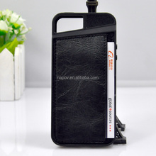 Newest Design PU leather Back Case with Credit Card Slots for Iphone 5/5S