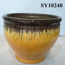 2015 ceramic sagging color garden flower pot