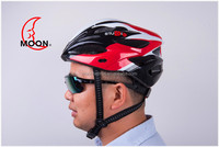 2014 NEW China Factory Fashion New Safty Cycling Adult Men's Bike Bicycle Carbon Safety Helmet LED light