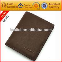 Fashion brand name men's leather wallet