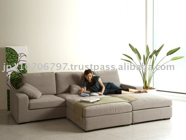 Styleproposer Genesis Ottoman Living Room Curvature Sofa Set Tcsl013