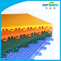 Plastic material flexible floor mat for badminton court