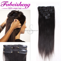Factory wholesale12-30 inch clip in hair extension on sales