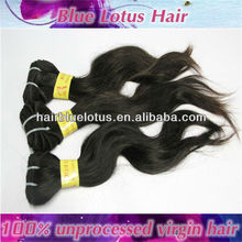 No tangle Peruvian Remy Human hair, body wave virgin hair extensions
