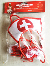 High Quality Crazy Nurse Set With 3 Pcs For Halloween
