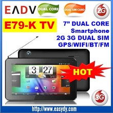 7 inch TV Tablet 2G 3G Dual Sim Card Tablet Andriod 3G Smartphone E79-K 7 inch Tablet