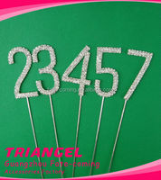 High Quality Number Rhinestone Cake Topper For Birthday