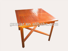 Outdoor wooden table with umbrella hole 201046Z