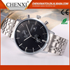 Customized Gift Day/Date Japan Movt Quartz Men Hand Oem All Stainless Steel Mens Watch