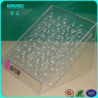 Modern novelty clear counter foundation make-up acrylic display stand for shop