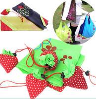 Fashion Handbag Strawberry Foldable Shopping Tote Reusable Storage Bag /folding Convenient Square Travel sundries Container