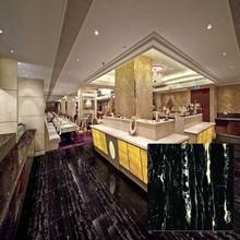 chinese glazed glossy marble black floor tiles price