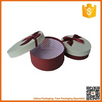 fashionable gift box in oval shape